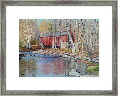Valley Forge Covered Bridge Framed Print