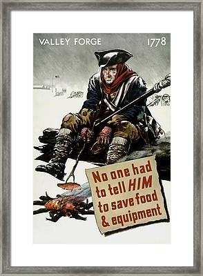 Valley Forge Soldier - Conservation Propaganda Framed Print by War Is Hell Store