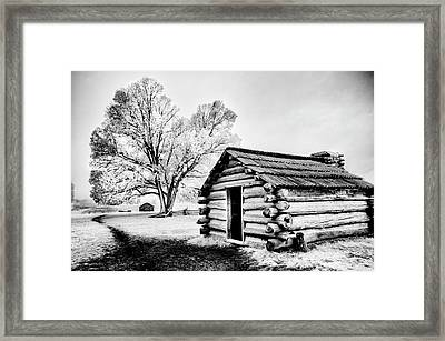Framed Print featuring the photograph Valley Forge Winter Troops Hut                           by Paul W Faust - Impressions of Light