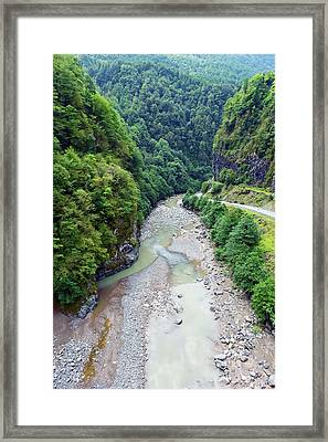 Valley From Above Framed Print by Svetlana Sewell