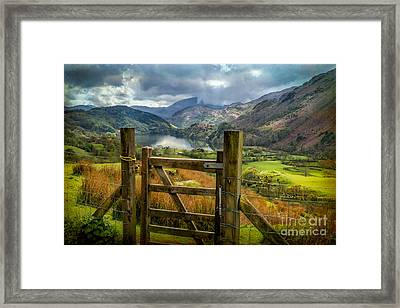 Valley Gate Framed Print by Adrian Evans