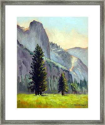 Valley Glow Yosemite Np Framed Print by Karin  Leonard