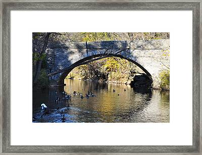 Valley Green Bridge Framed Print by Bill Cannon