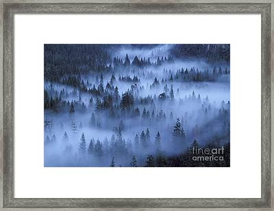 Framed Print featuring the photograph Valley In Fog by Stan and Anne Foster
