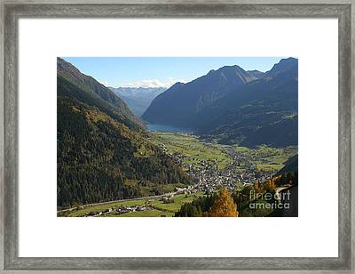 Valley In The Alps Framed Print by Stan and Anne Foster
