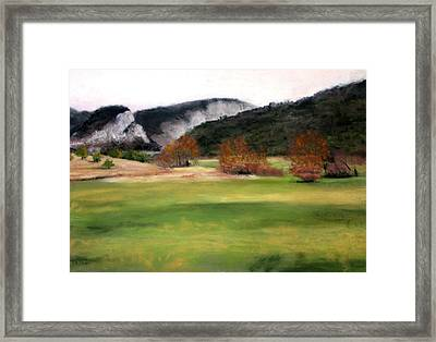 Valley Landscape Early Fall Framed Print by Cindy Plutnicki