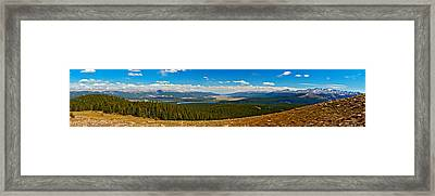 Valley Of 14ers Panorama Framed Print by Jeremy Rhoades