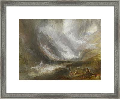 Valley Of Aosta  Snowstorm, Avalanche, And Thunderstorm Framed Print by Joseph Mallord William Turner