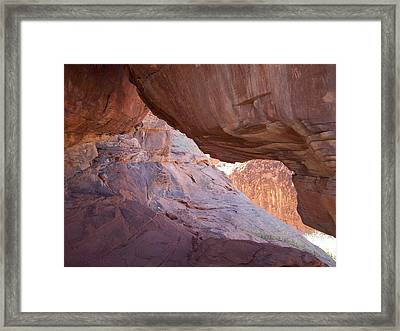 Valley Of Fire Cave Framed Print