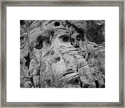 Valley Of Fire I Bw Framed Print by David Gordon