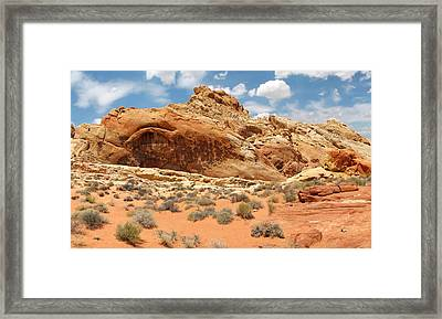 Valley Of Fire Framed Print by Mary Lane