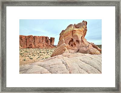 Framed Print featuring the photograph Valley Of Fire North by Ray Mathis
