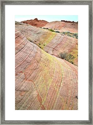Framed Print featuring the photograph Valley Of Fire Pastel Dunes by Ray Mathis