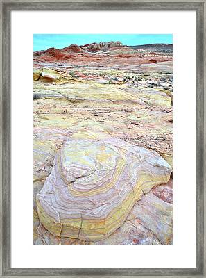 Framed Print featuring the photograph Valley Of Fire Pastels by Ray Mathis