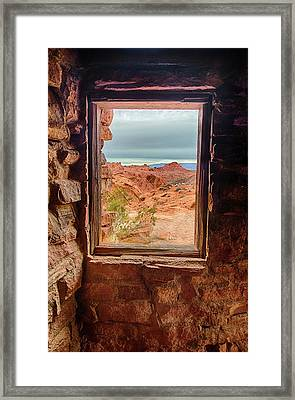 Valley Of Fire Window View Framed Print