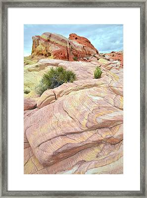 Valley Of Fire's Nike Rock Framed Print by Ray Mathis