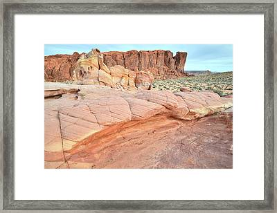 Framed Print featuring the photograph Valley Of Fire's North End by Ray Mathis