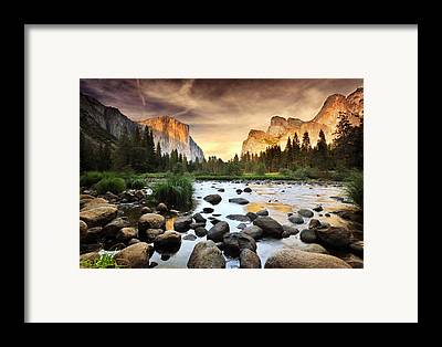 Mountain Sunset Framed Prints