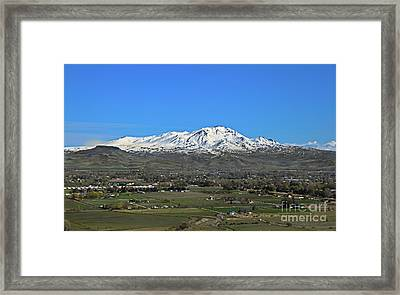 Valley Of Plenty Framed Print by Robert Bales