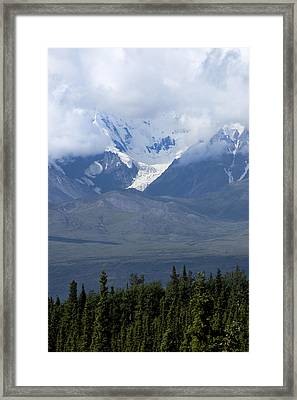 Valley Of Snow Framed Print by Michelle Shockley