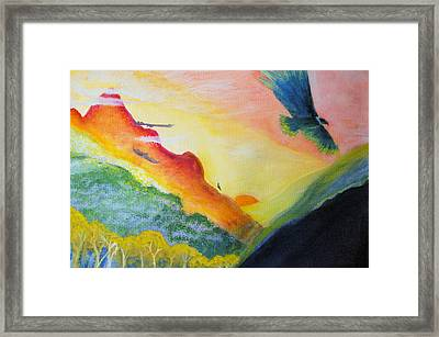 Valley Of The Condors Framed Print by Carlita Shaw
