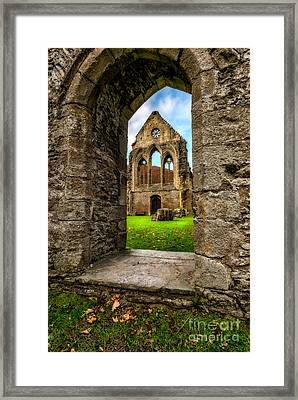 Valley Of The Cross Framed Print