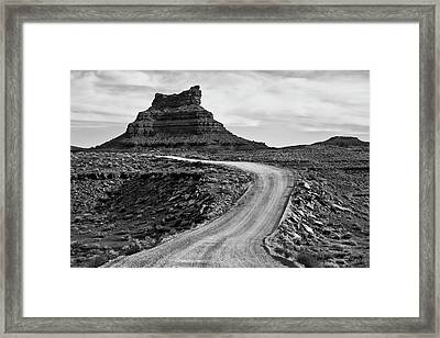 Framed Print featuring the photograph Valley Of The Gods IIi Bw by David Gordon
