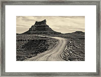 Framed Print featuring the photograph Valley Of The Gods IIi Toned by David Gordon