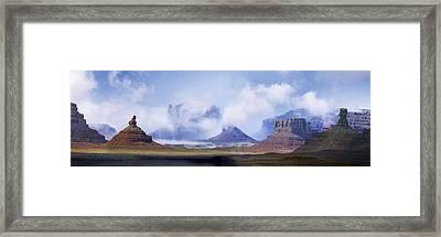 Valley Of The Gods Framed Print by Leland D Howard
