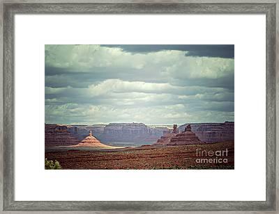 Valley Of The Gods, Utah Framed Print by Joan McCool