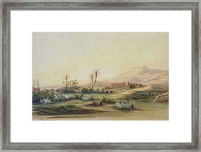 Valley Of The Nile With The Ruins Of The Temple Of Seti I Framed Print