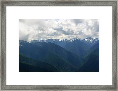 Framed Print featuring the photograph Valley Of The Olympics by Tikvah's Hope