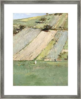 Valley Of The Seine, Giverny Framed Print