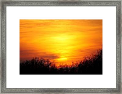 Valley Of The Sun Framed Print by Frozen in Time Fine Art Photography