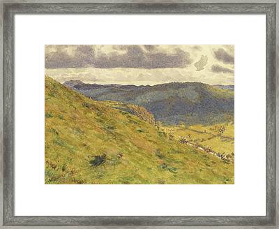 Valley Of The Teme, A Sunny November Morning Framed Print by George Price Boyce