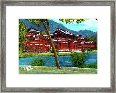 Valley Of The Temples Buddhist Temple #73 Framed Print by Donald k Hall