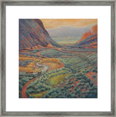 Valley Passage Framed Print