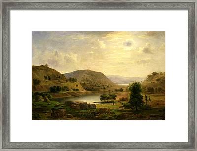 Valley Pasture Framed Print by Robert Seldon Duncanson