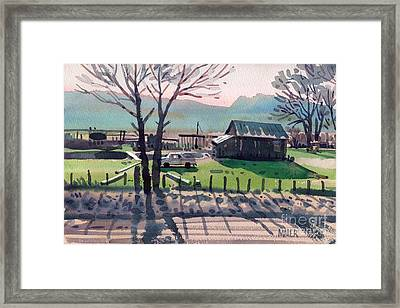 Valley Ranch Framed Print by Donald Maier