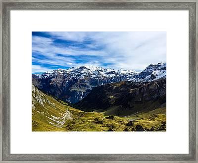 Valley Scene Framed Print by Britten Adams