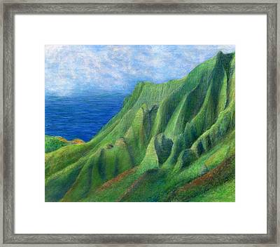 Valley Sunlight Framed Print by Kenneth Grzesik