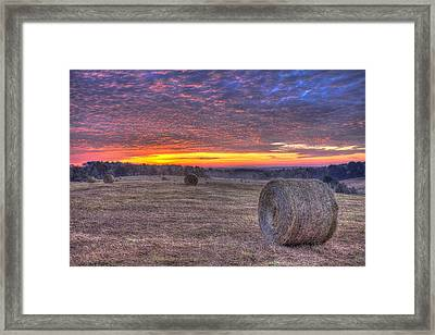 Valley Sunrise Walker Church Road Framed Print by Reid Callaway