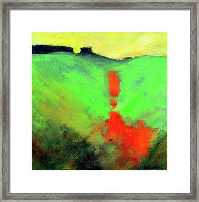Framed Print featuring the painting Valley View by Nancy Merkle