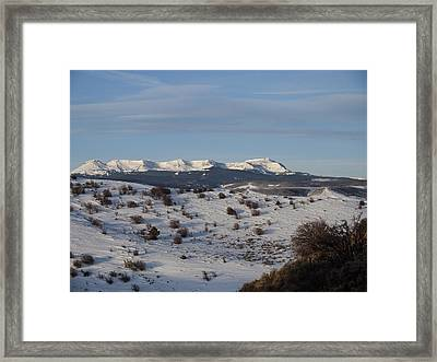 Valley View Of Flat Tops Framed Print by Daniel Hebard