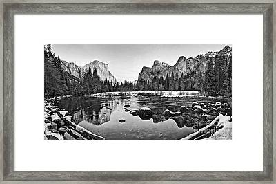 Valley View Panorama Framed Print by Jamie Pham