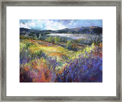 Valley View Framed Print by Rae Andrews