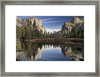 Valley View Reflection Framed Print