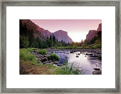 Valley View Sunrise Framed Print