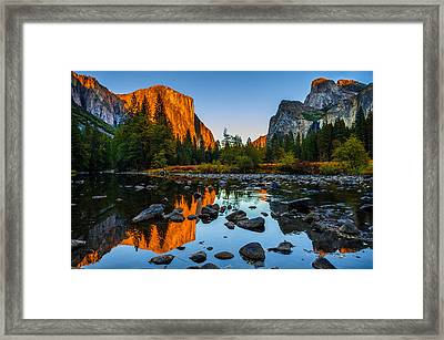 Valley View Yosemite National Park Framed Print