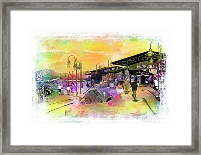 Valley Wells California Framed Print